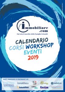 Copertina Calendario Corsi Workshop Eventi 2019