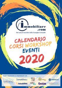 Copertina Calendario Corsi Workshop Eventi 2020
